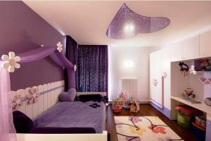 детская комната для девочки в фиолетовом цвете фото