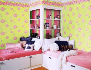детские комнаты для двух девочек фото