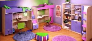 дизайн детской комнаты для двух девочек фото