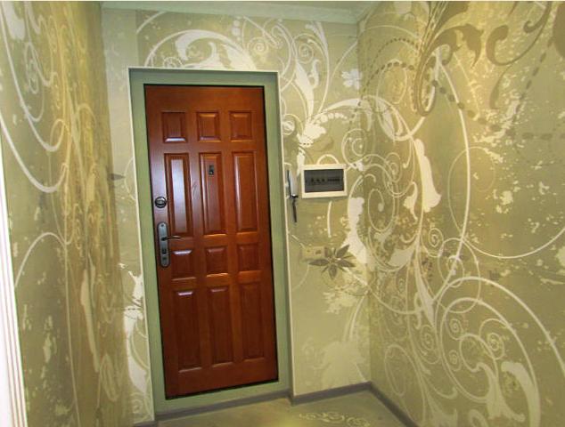 Дизайн обоев для прихожей в квартире фото