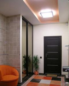 потолок из гипсокартона в прихожей фото