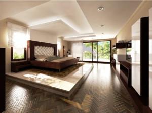 спальная комната в стиле кантри фото