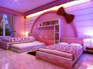 розовый цвет в детской комнате фото