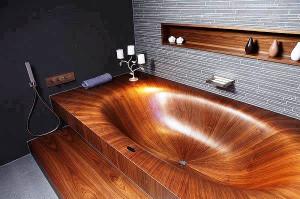 деревянная ванна фото