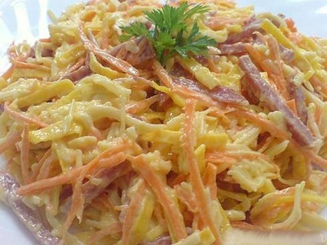 Фото рецепт салат из блинов