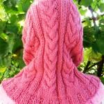 Вязание женского капора с «косами»