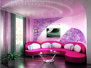 интерьер гостиной с угловым диваном фото