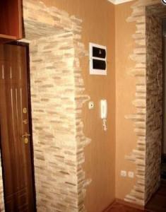 отделка стен искусственным камнем  фото