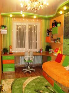 зеленый цвет в детской комнате фото