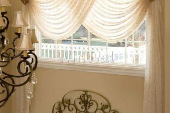 Легкие шторы для кухни