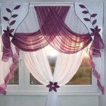 Симпатичные шторы для кухни