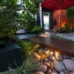 Сухой ручей — идиллия в саду