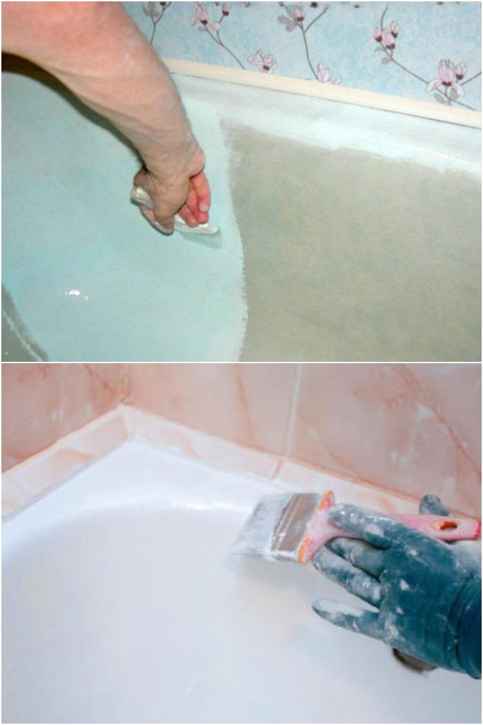 Как обновить старую чугунную ванну