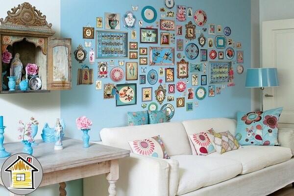 Декор стен в квартире своими руками